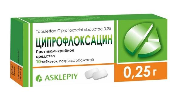 упаковка ципрофлоксацина